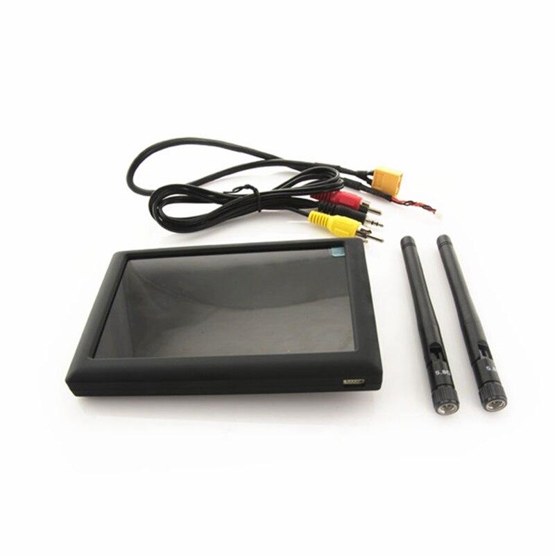 FXT FPV moniteur FX508 5.8G 40CH 5 pouces 800x480 16:9 diversité avec DVR pour FPV quadrirotor RC caméra Drones lunettes en temps réel