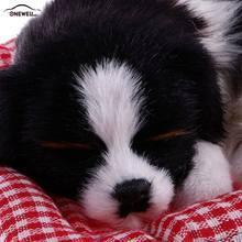 4 модели милых игрушечных животных, плюшевая игрушка Спящая собака, украшение автомобиля, автомобильные украшения