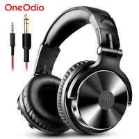 Oneodio sobre a orelha fones de ouvido de alta fidelidade estúdio dj com fio monitor música gaming fone de ouvido para o telefone computador pc com microfone