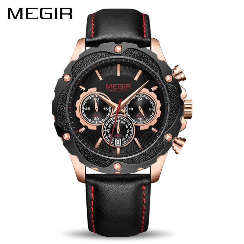 MEGIR Chronograph Sport Watch Men Relogio Masculino Luxury Army Military Watches Clock Men Creative Quartz Wrist Watch цена