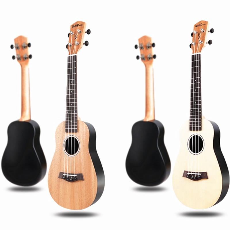 Ukulele 23 Acoustic Ukelele Spruce Ukulele 4 Strings Guitar Guitarra Instrument U001 kaka kus dr mgk du kt fl 21 mini spruce engraving ukulele four 4 strings instrument bass guitar rosewood sapele ukelele case