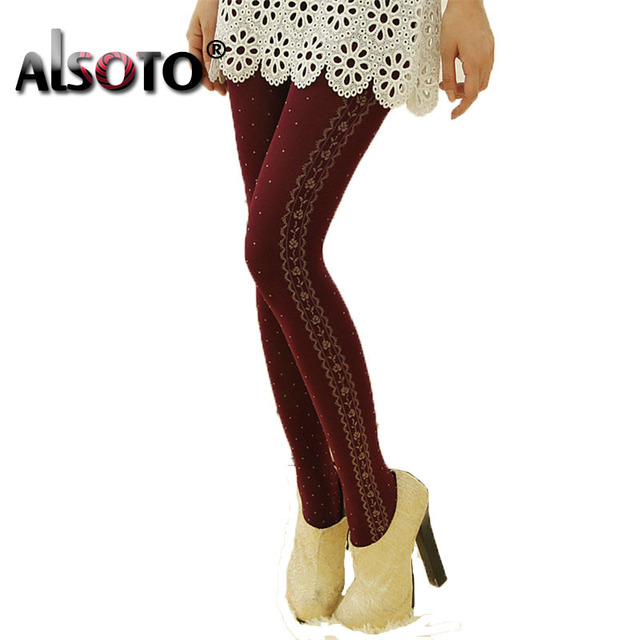 519b5610d ALSOTO Slimming Sexy women pantyhose Rose design Female medias Fashion  collant femme kawaii high Elasticity stockings
