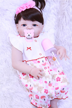 55cm Full Silicone Body reborn babies Doll Toys Lifelike bebe princess reborn bonecas play house toys for kids gift