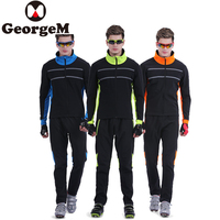 GeorgeM Winter Windproof Cycling Jackets Suits Men Outdoor Sports Riding Cycle Clothing Bike Long Sleeve Jerseys Pants Wind Coat