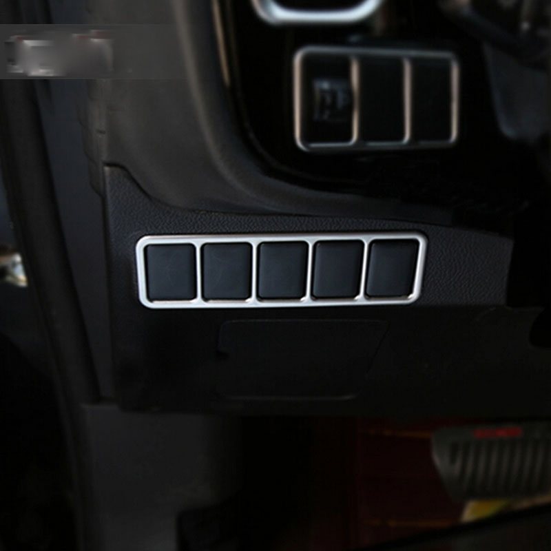 For Mitsubishi <font><b>Outlander</b></font> <font><b>2016</b></font> 2017 Chorme Car Interior Tail Rear Trunk Control Button Switch Cover Trim Molding Protectors Matte image
