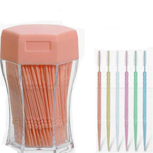200pcs/set Soft Plastic double-head Brushed Toothpick Oral Care 6.2 Cm Hot Sale