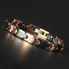 High-grade Luxury Ceramics Bracelet Rose Health Jewelry for Men and Women