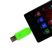 SR 2 in 1 USB OTG Card Reader Universal Micro USB OTG TF/SD Card Reader Phone Extension Headers Micro USB OTG Adapter