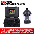 "7"" TFT LCD Monitor 650TVL Camera Underwater Fish Finder Video Camera System HD 50M Cable Fishing Tackle Tool Rotate 360 Degree"