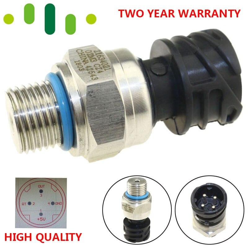 Transdutor do remetente do interruptor de sensor pressão óleo combustível sensor cerâmico para o caminhão diesel d12 d13 fh de volvo penat fm 21634021 7420484678