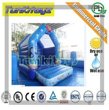 Mini Residential Bouncy Castle Moonwalk Jump Bounce House Inflatable Bouncer Outdoor Kids Toys Sports Game