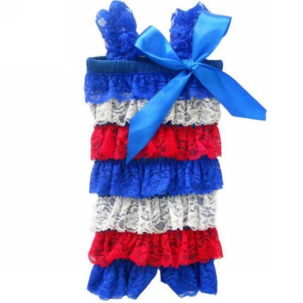 0d7b528ee8e9 Free Shipping Baby Blue Red White Ruffle Romper Petti Romper Photo Prop  Patriotic 4th Of July