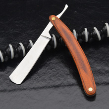 Men's Straight Shaver Knife Retro Carbon Steel +Wood Handle Male Folding Shaving Razor with Razor Blade Barber Beard Tools недорого