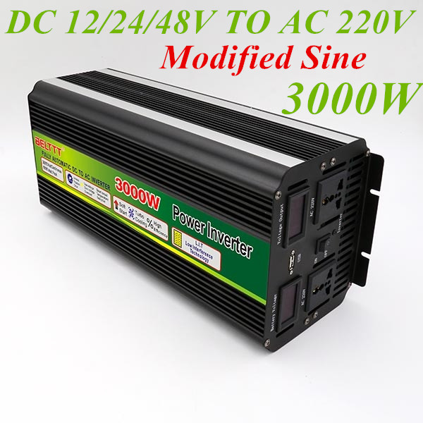 цена на Inverter 12V 220V 3000W Modified Sine Wave Peak Power 6000W