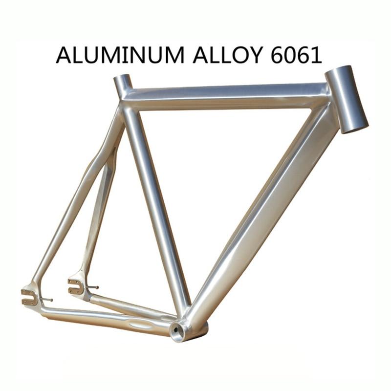 promotion 700c bike frame 52cm 55cm frameset track fixie fram fork fixed gear frameset fixie bike