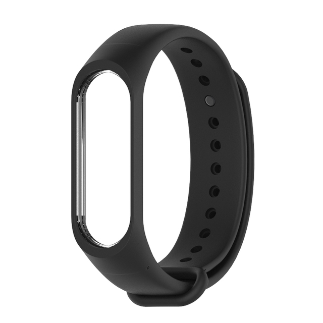 Silicone Bracelet for xiaomi mi band 4 3 bracelet Pure Dual color Replacement Strap Mi Band 4 3 Miband 4 3 Wrist Straps band 5