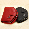 Designer Genuine Leather Short Style Women Wallet  Fashion Mini Coin Purse Luxury Real Leather Card Holder Money Pouch 2