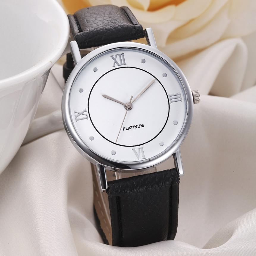 Fashion Women Watches Silver Analog Dress Hand Clock PU Leather Band Quartz Wrist Watch Reloj Mujer Jun21 цена