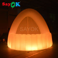 Sayok 3x2.5x2.5m Inflatable LED Bar Counter with RGB LED Lights Inflatable Pub Tents for Beer Drink Advertising Promotions