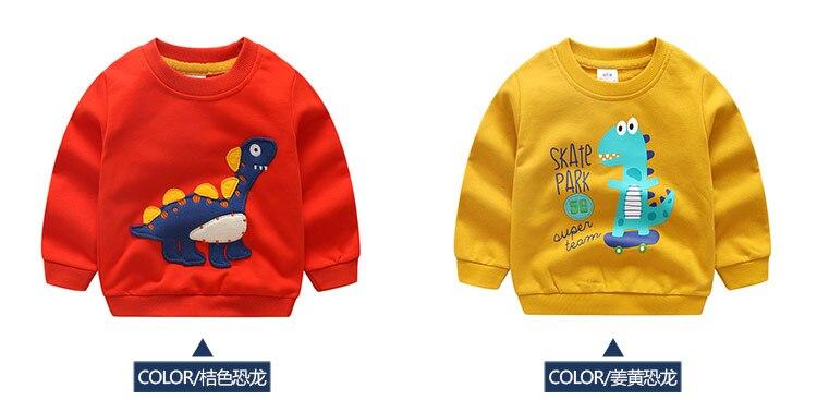 2018 Autumn Winter Warm 2-10 Years Old Children Long Sleeve Cartoon Animal Print School Baby Fleece Handsome Kids Boy Sweatshirt (8)