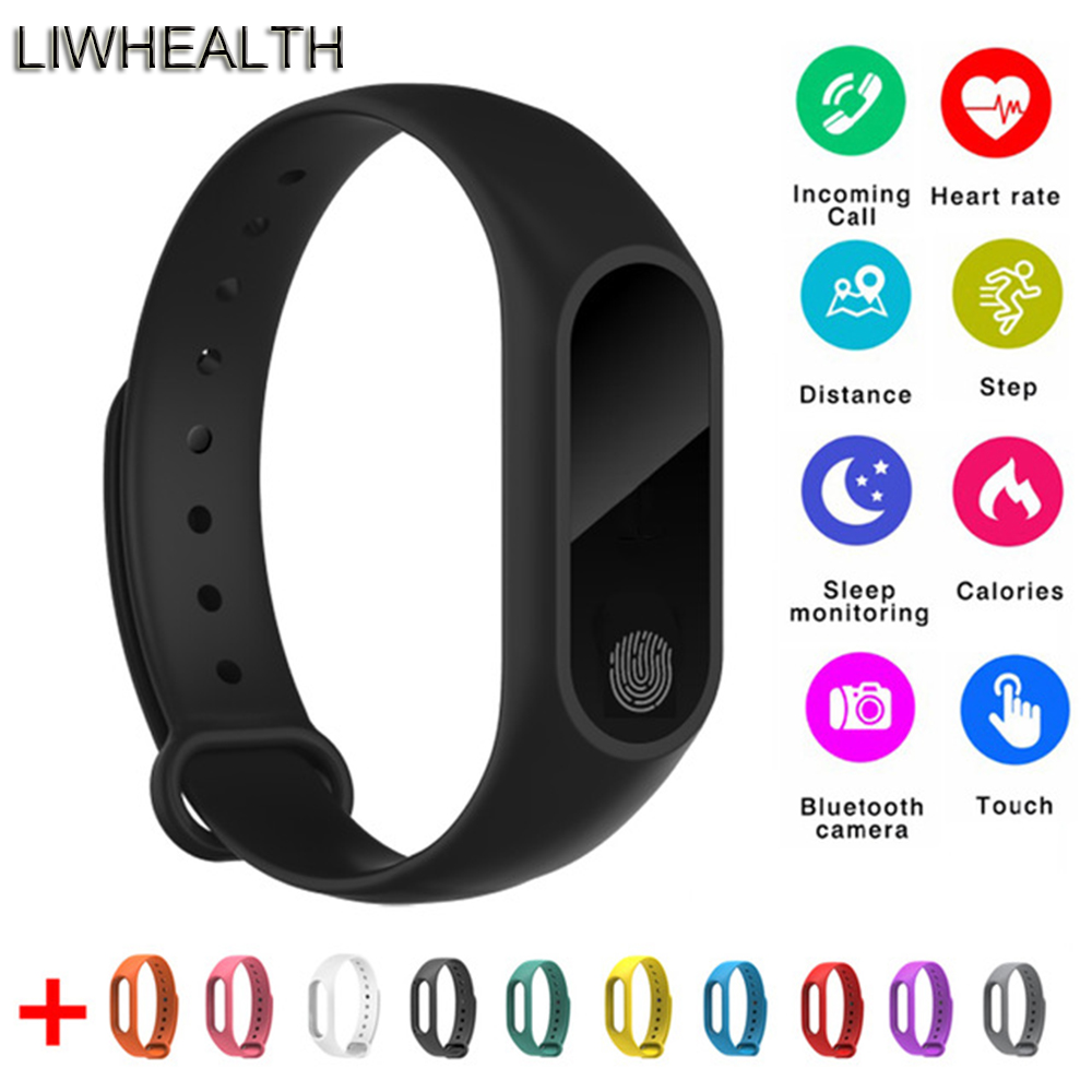 Günstige L2 Smart Fitness Armband Herz Rate Monitor Uhr Uhr Schrittzähler Aktivität Tracker Für IOS/Xiao mi/Honor PK mi Band 2/3/4