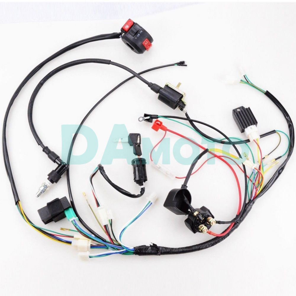 Full Electrics Wiring Harness Cdi Coil 110cc 125cc Atv Quad Bike Go Kart Buggy Gokart In Parts Accessories From Automobiles Motorcycles On