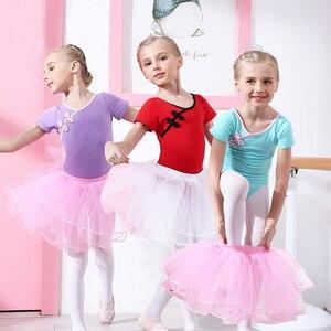 Image 3 - Ba Lê Leotard Cotton Ba Lê Đầm Yếm Bé Gái Quần Áo Tập Tutu Dancewear Thể Dục Dụng Cụ Phù Hợp Với Nơ Kid Bộ Trang Phục Gai