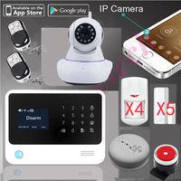 Оригинальный G90B плюс Wi Fi будильник gprs WiFi домашняя охранная GSM сигнализация + SMS 3g сигнализация Поддержка ip камеры + пожарная сигнализация дат