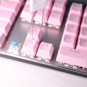 Image 2 - 104 Chiavi OEM Profilo Switch Cherry MX Tastiera Meccanica Chiave Cappellini ABS di Colore Rosa Retroilluminazione Cappellini