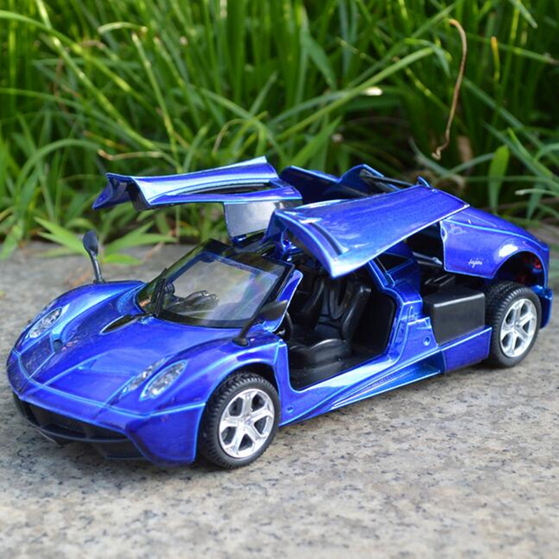 Blue/red/green Alloy Pagani Zonda Car 1/32 Scale Diecast Car Model With light&sound Pull Back Car Model Kids Toys Gift