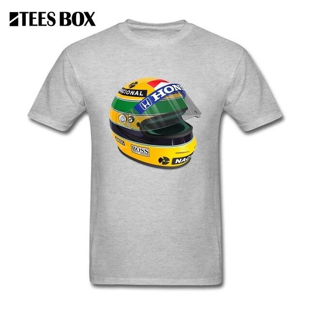 T Shirt Homens Senna Ayrton Senna Capacete Capacete 1 Masculino Roupas de Manga Curta Gola Redonda Grande Desconto Homem Camisetas Exclusivas