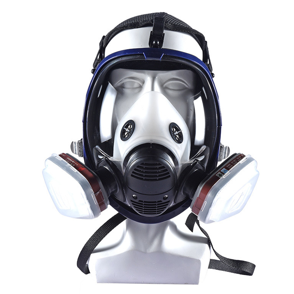 7 In 1 Painting Spraying Industry Full Face Dust Protective Silicone Lightweight Safety Balanced Respirator Gas Cleaning7 In 1 Painting Spraying Industry Full Face Dust Protective Silicone Lightweight Safety Balanced Respirator Gas Cleaning