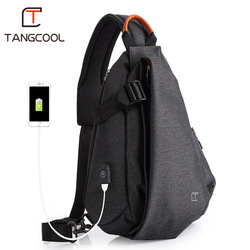 Tangcool Brand Design Fashion Unisex Men Leisure Messenger Bags Women Cross Body Bags Leisure Chest Pack Shoulder Bags for Ipad