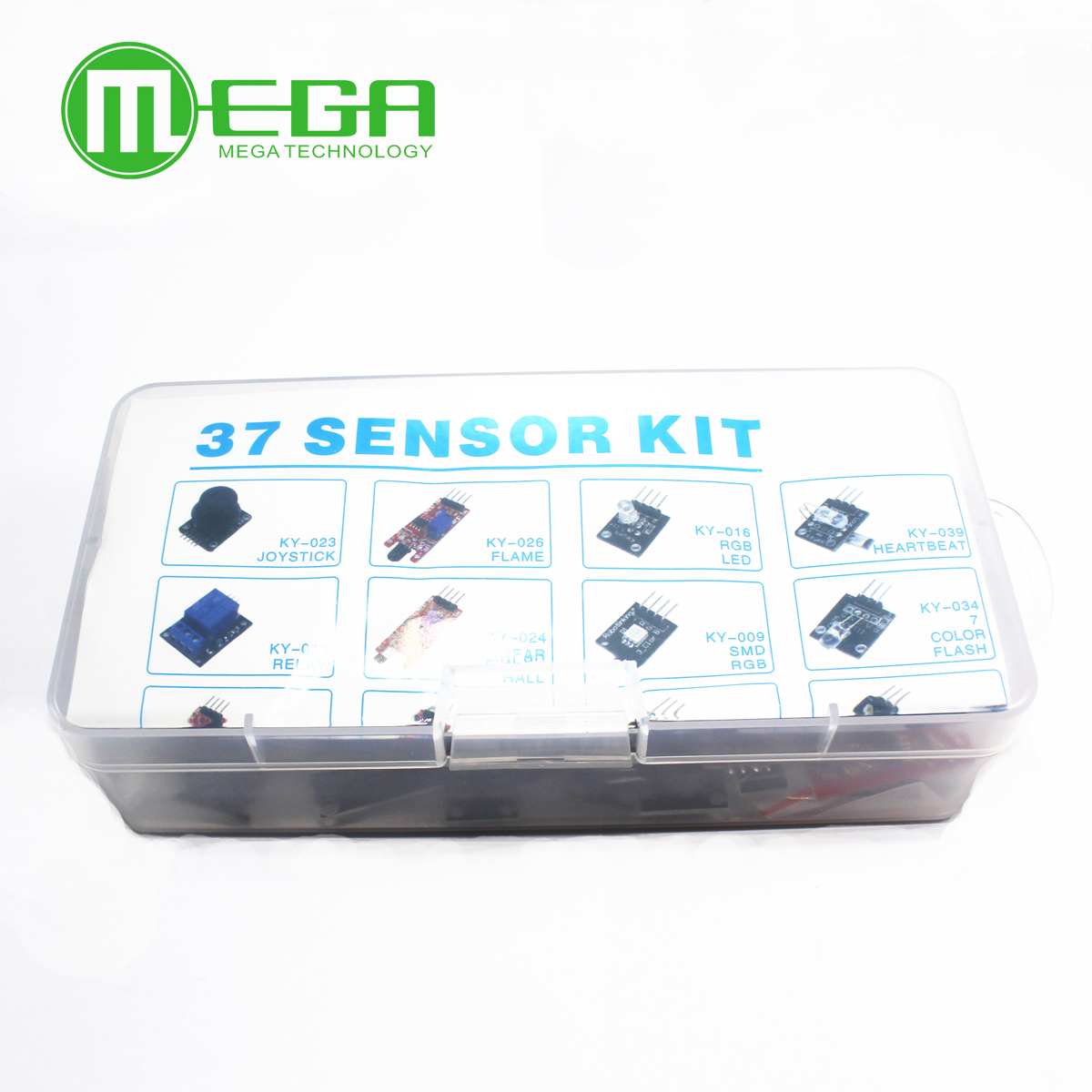 37 IN 1 BOX SENSOR KITS FOR ARDUINO HIGH-QUALITY FREE SHIPPING (cartons, not plastic!!!)