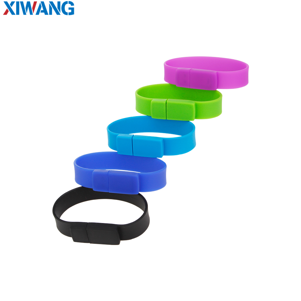 Image 2 - New Creative Silicone bracelet Wrist Band usb flash drive 128GB 64GB 32GB 16GB 8GB Pen drive Pendrive usb stick free shipping-in USB Flash Drives from Computer & Office