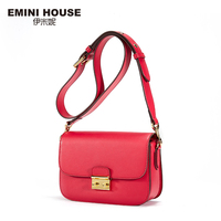 EMINI HOUSE Vintage Split Leather Women Shoulder Bag Fashion Crossbady Bags High Quality Women Messenger Bag