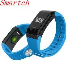 Smartch Smart группа крови Давление Часы F1 Смарт-часы браслет сердечного ритма Мониторы Smart Band Беспроводной Фитнес для iOS и Android