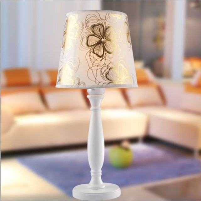Factory direct light luxury cloth lamp european garden bedroom bedside lighting table lamp lighting furniture wholesale
