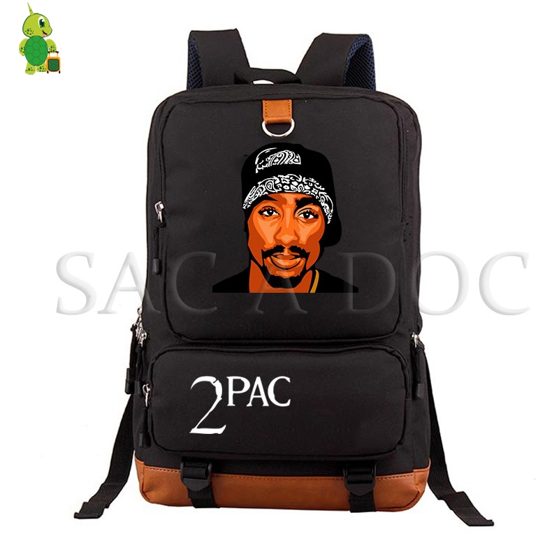 Tupac 2Pac Backpack Women Men Laptop Backpack School Bag For Teenagers Casual Rucksack Hip Hop Legend Travel Bags
