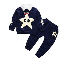 2019 New Fashion Baby Clothes Children Boys Girls Removable Collar T-shirt Pants 2Pcs/Sets Kids Cartoon Clothing Sets Tracksuits