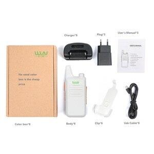 Image 5 - 6PCS Portatile Radio WLN di KD C1 Mini Wiress uhf Walkie Talkie ricetrasmettitore amatoriale radio portatile radio communicator рация