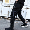 2019 NEW Streetwear Ribbons Casual SweatPants Black Slim Mens Joggers Pants Side-pockets Cotton Camouflage Male Trouser 10