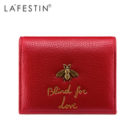 LAFESTIN Women Wallet Brand High Quality Purse Wallets Designer Genuine Leather Coin Purse Credit Card Holder portefeuille femme