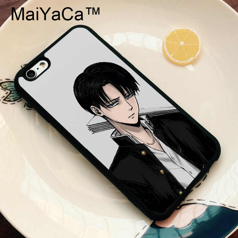 MaiYaCa Attack On Titan levi Soft TPU Mobile Phone Case Coque For iphone X XR XS q50