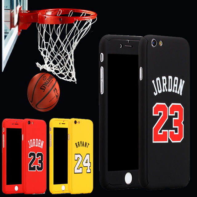 more photos 2df1c 35637 New Sports Basketball 360 Case coque For iPhone 8 7 6 6s Plus Full Body  Case Kobe Bryant Curry Michael Jordan Air 23 capinhas