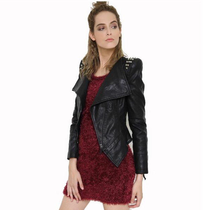 141cda32ecc top 10 most popular leather woman jacket with spikes ideas and get ...