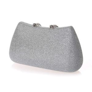 Image 3 - Lüks ay kadınlar kristal U elmas toka el çantası glitter gümüş akşam çantalar altın debriyaj parti çanta kadın çanta