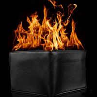 1pc de la novedad magia truco llama fuego cartera gran llama mago billetera de truco etapa espectáculo de calle de cartera divertido J75