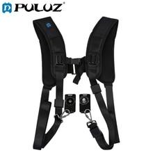 лучшая цена PULUZ Camera Quick Release Strap Double Shoulder Harness Soft Pad Decompression Foam Shoulder Strap Belt For DSLR