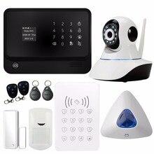 G90B WIFI Sistema de Alarma de Seguridad Inalámbrica GSM con Cámara IP WIFI RFID Teclado Detector PIR de Alarma Del Sensor de Alarma de Puerta Magnética